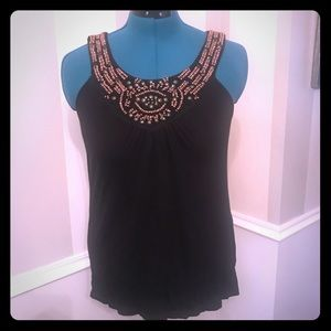 Cynthia Rowley Beaded Blouse, size M.